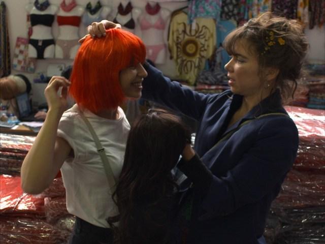 Paula (Paulita Pappel) and Cata (Catalina Jordan Alvarez) share a hair-raising moment.