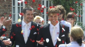 Olli and Christian's wedding day
